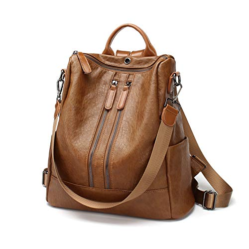 FIGROL Women Backpack Purse Soft PU Leather Casual Travel Bag
