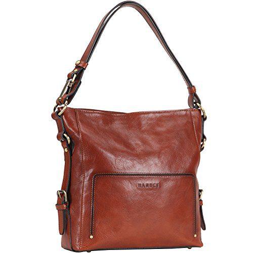 Banuce Women Vintage Italian Leather Hobo Handbag Shoulder