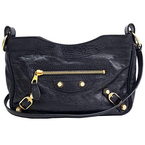 Balenciaga Classic City Hip Lambskin Black Leather Cross Body Bag