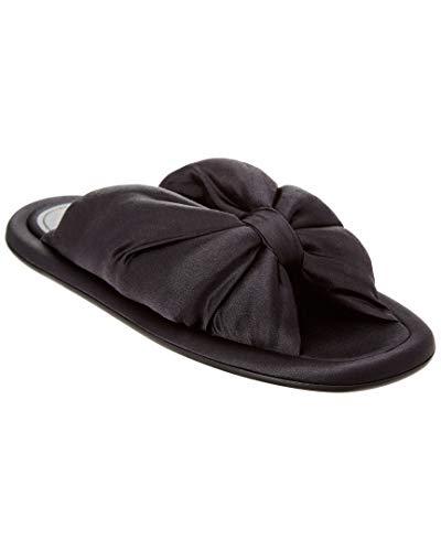 Balenciaga Satin Slide Sandal, 36, Black