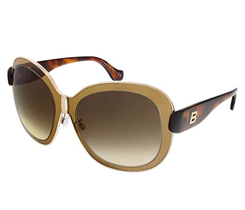 Balenciaga Women's Oversized Gold-Tone and Brown Sunglasses