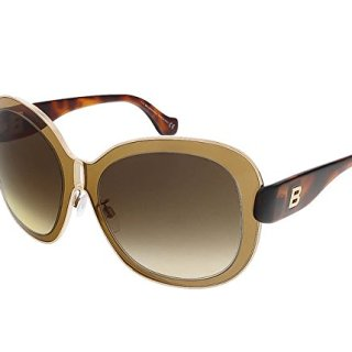 Balenciaga Women's Oversized Gold-Tone and Brown Sunglasses
