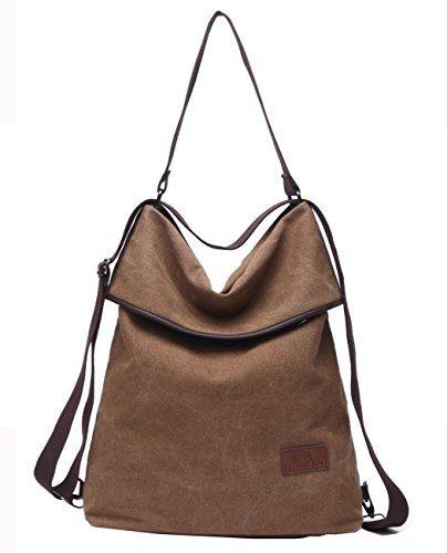 Travistar Women Multifunction Shoulder Bag- Canvas Backpack Purse