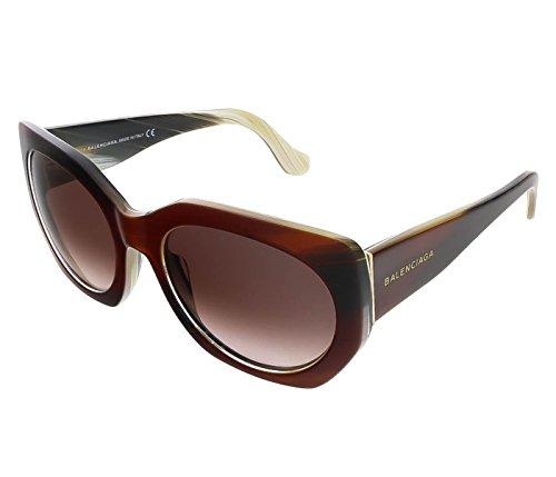 Sunglasses Balenciaga light brown/other / gradient bordeaux