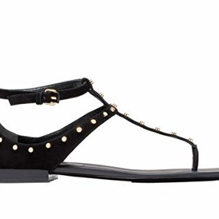 Balenciaga Women's Black Chamois Leather Flat Sandals Shoes - Size: 9.5 US