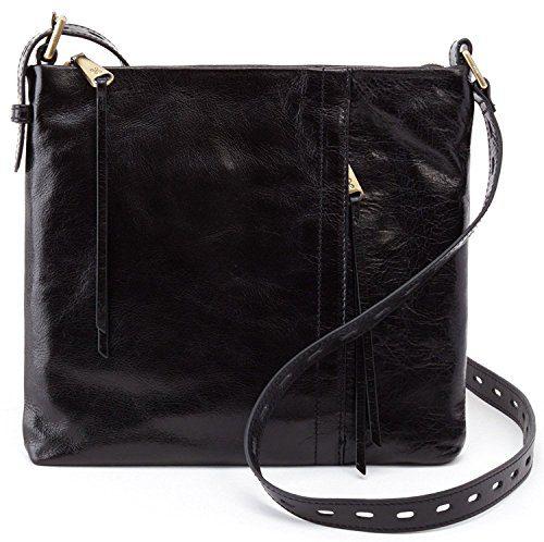 Hobo Women's Vintage Hide Drifter Crossbody Bag (Black)