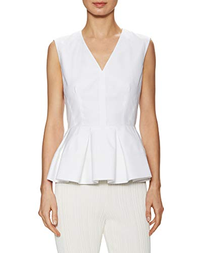 Balenciaga Womens V-Neck Peplum Top, 38