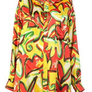 Balenciaga Women's Multicolor Silk Shirt