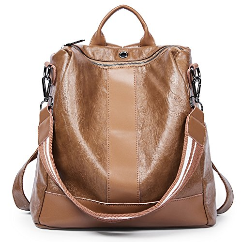 Women Backpack Purse PU Leather Covertible School Shoulder Bag