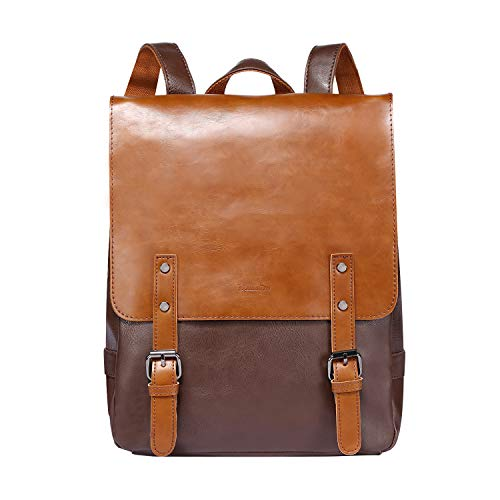 Zebella Pu Crazy Horse Leather-Like Vintage Women's Backpack School Bag