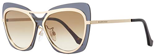 Sunglasses Balenciaga shiny rose gold/gradient brown