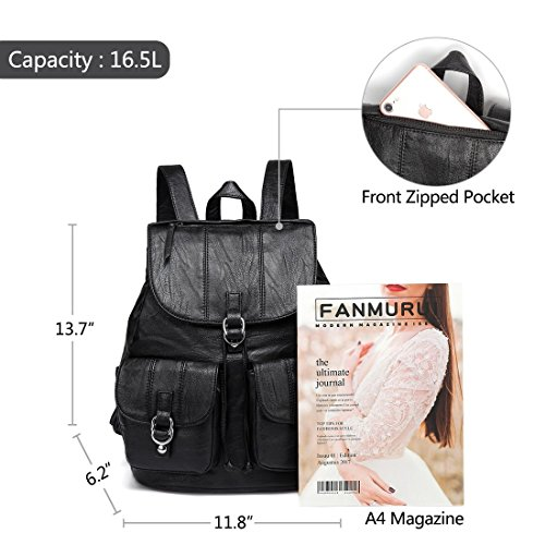 15ad5138f Home Shop Women Accessories Handbags & Wallets Backpack Purse for Women,VASCHY  Fashion Faux Leather
