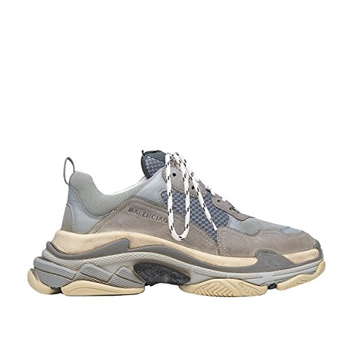 Balenciaga Men's & Women's Vintage Triple S Trainers Fashion Sneakers Grey (Size 35)