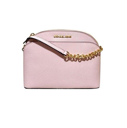 Michael Kors Emmy Medium Crossbody Leather Handbag (Blossom)