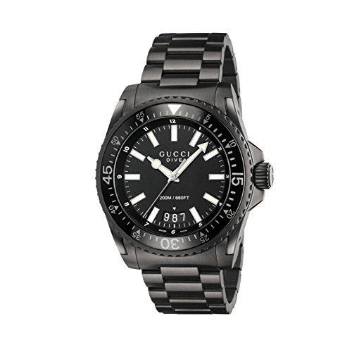 Gucci Men's Dive Watch Quartz Sapphire Crystal YA136205