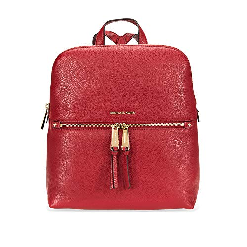 a0dc4b72d42a59 Michael Kors Rhea Medium Slim Leather Backpack MAROON Clout Wear ...