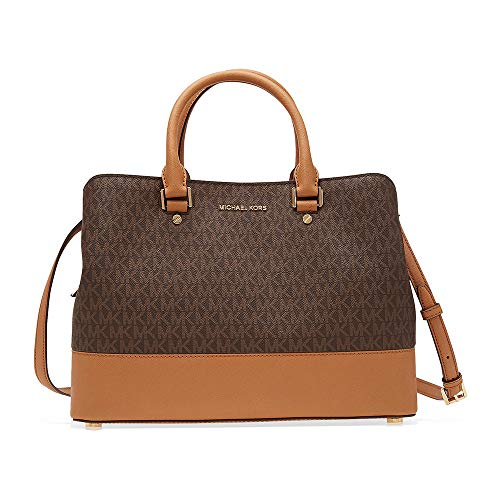 Michael Kors Savannah Large Satchel (Brown)