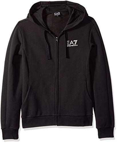 Emporio Armani EA7 Men's Train Core ID Full Zip Fleece Hoodie, Black, Large