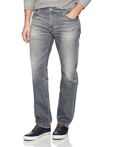 AG Adriano Goldschmied Men's Graduate Tailored Leg Mso Grey Denim, 13 Years Fortress, 33