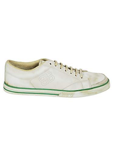 Balenciaga Men's White Leather Sneakers