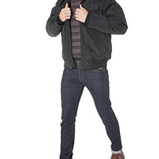 Ben Sherman Men's Short Parka Jacket, Faux Fur Trim Black, M