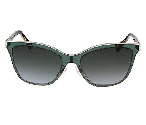 Balenciaga BA0084 95B Clear Teal and Tortoise Wayfarer Sunglasses