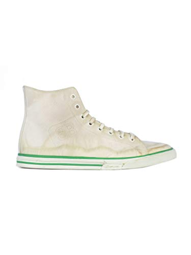 Balenciaga Men's Beige Fabric Hi Top Sneakers