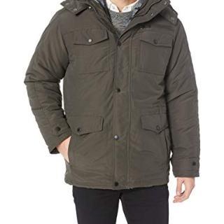 Ben Sherman Men's System Outerwear Jacket, Dark Olive, XL