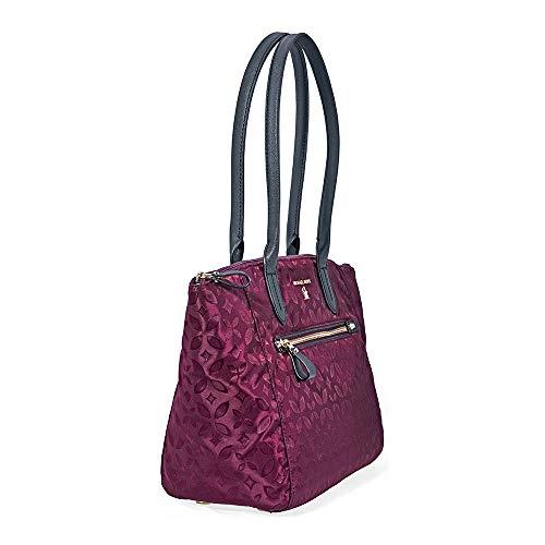 bd8acd898b75 Home Shop Women Accessories Handbags   Wallets Michael Kors Kelsey Medium  Floral Nylon Tote- Plum