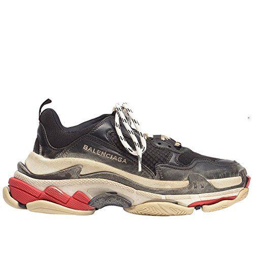 Balenciaga Men's & Women's Vintage Triple S Trainers Fashion Sneakers Black (Size 43)