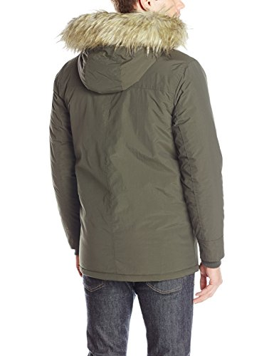 Ben Sherman Men's Parka Jacket, Dark Olive, L