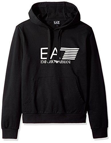 Emporio Armani EA7 Men's Training Core & Branding Visibility Hoodie, Black, L