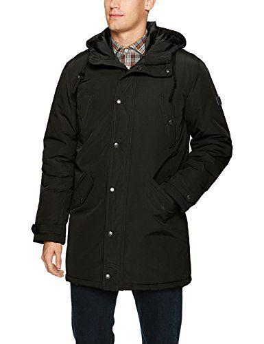 Ben Sherman Men's Long Parka Jacket, Black, M