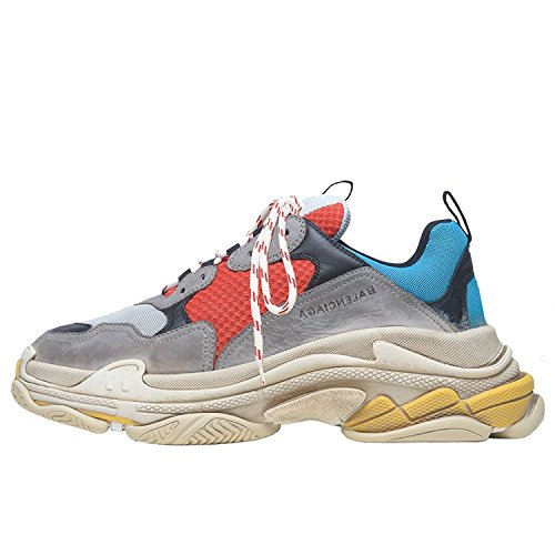Balenciaga Men's & Women's Vintage Triple S Trainers Fashion Sneakers Blue (Size 41)