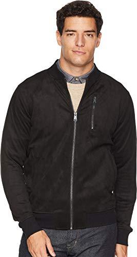 Ben Sherman Men's Faux Suede Bomber Jacket Black Small