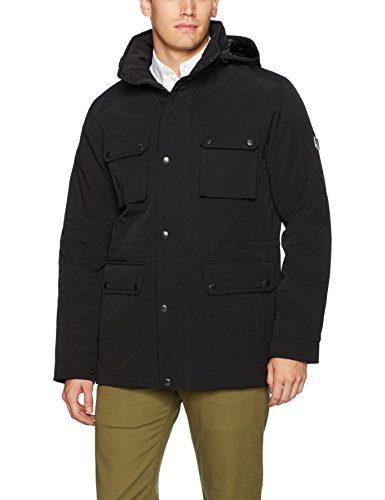 Ben Sherman Men's Anorak Outerwear Jacket, Black, L