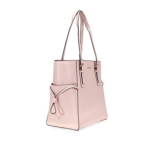 32d413d968fc Home Shop Women Accessories Handbags & Wallets Michael Kors Voyager  Textured Crossgrain Leather Tote- Soft Pink