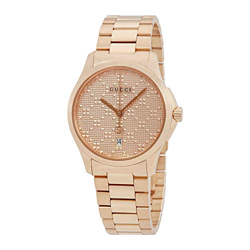 Gucci G-Timeless Mens Rose Gold-tone Watch