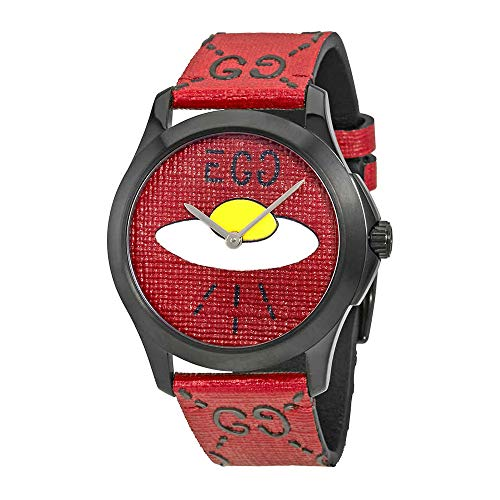 Gucci Ghost G-Timeless Red with UFO Motif Dial Mens Rubber Watch