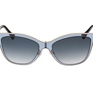 Balenciaga Clear Light Blue and Tortoise Wayfarer Sunglasses