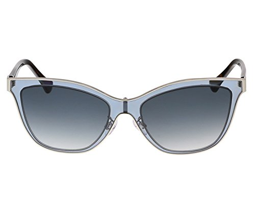 Balenciaga Clear Light Blue and Tortoise Wayfarer Sunglasses