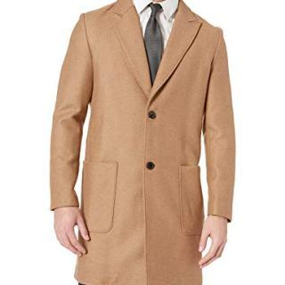Billy Reid Men's Camel Hair Single Breasted Gregory Car Coat, XXL