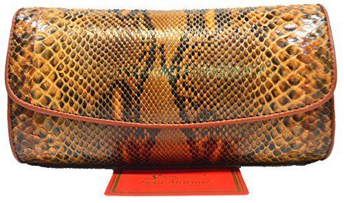 Authentic Snake Skin Women's Python Snake Leather Clutch Bag Shoulder