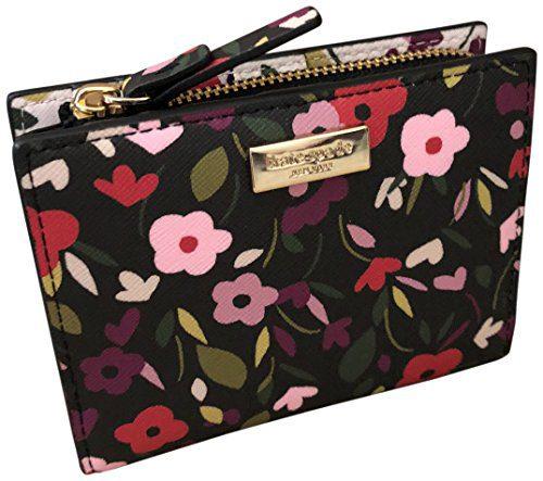 Kate Spade Shawn Laurel Way Boho Floral Saffiano Leather Wallet