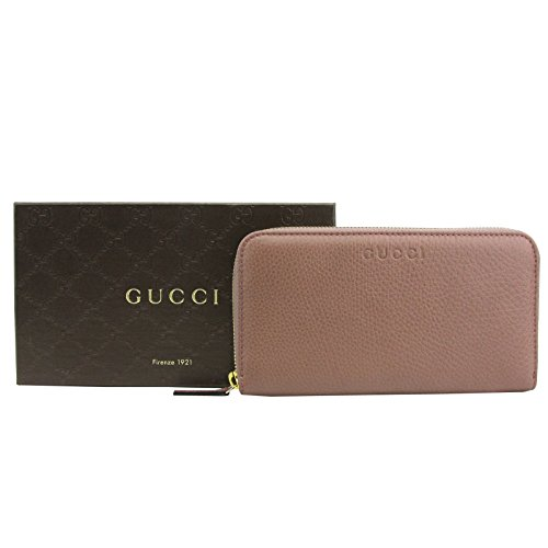Gucci Zip Around Tan Leather Long/Continental Wallet With Logo