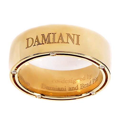 Damiani D.Side Brad Pitt 18K Yellow Gold 10 Diamonds Band Ring