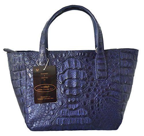 Authentic M Crocodile Skin Womens Hornback Bag