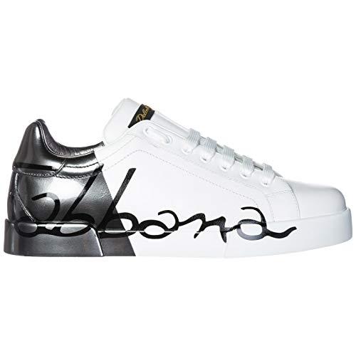 Dolce & Gabbana Men Portofino Sneakers Bianco/rutenio 9.5 US