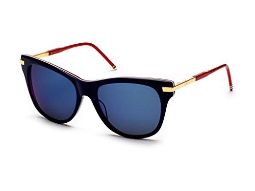 THOM BROWNE Gold w/Dark GreyBlue Mirror Sunglasses