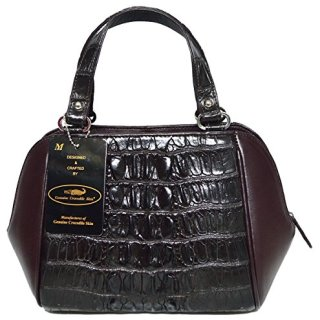 Authentic M Crocodile Skin Womens Tails W/Strap Bag Purse